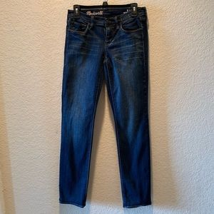 """Madewell """"Rail Straight"""" stonewashed jeans, 26"""